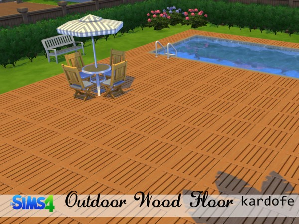 The Sims Resource: Outdoor Wood Floors by Kardofe