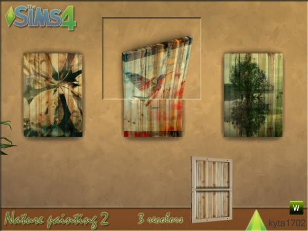 The Sims Resource: Nature Painting set by Kyta1702
