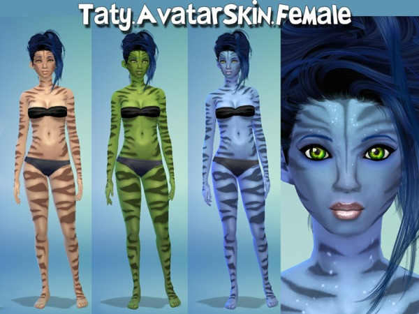 The Sims Resource: Avatar Skin by Taty