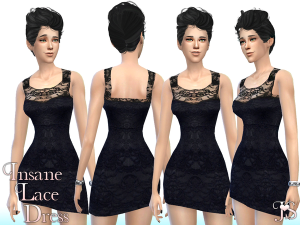 The Sims Resource: Insane Lace Dress  by JavaSims
