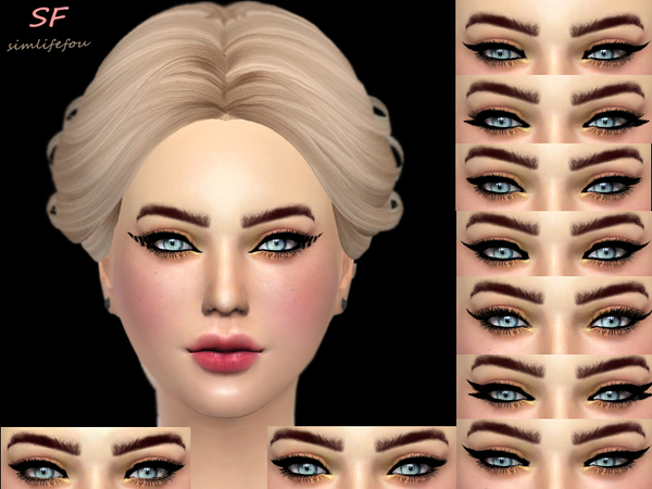 The Sims Resource: CAT eyesliner by foufouchouchou