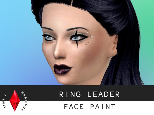 The Sims Resource: Ring Leader Face Paint by SIms4 Krampus