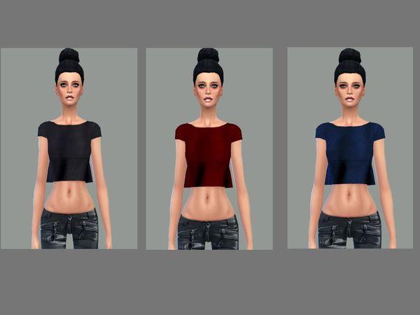 The Sims Resource: Sweet peplum top set  new mesh by Simsoertchen
