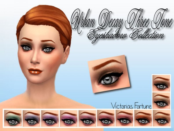 The Sims Resource: Urban Decay Three Tone Eyeshadow by fortunecookie1