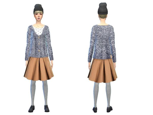 The Sims Resource: Warm wool outfit by simsoertchen