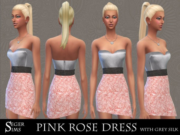 The Sims Resource: Rose Dress with grey silk by SegerSims