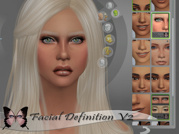 The Sims Resource: Facial Definition V2 by Ms Blue