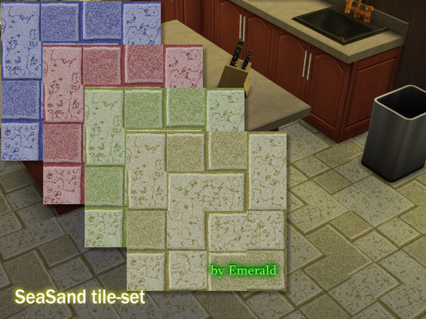 The Sims Resource: SeaSand tile set by Emerald