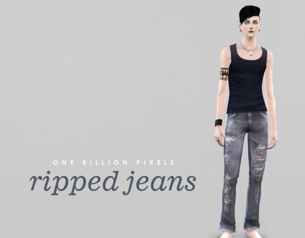 One Billion Pixels: Ripped jeans