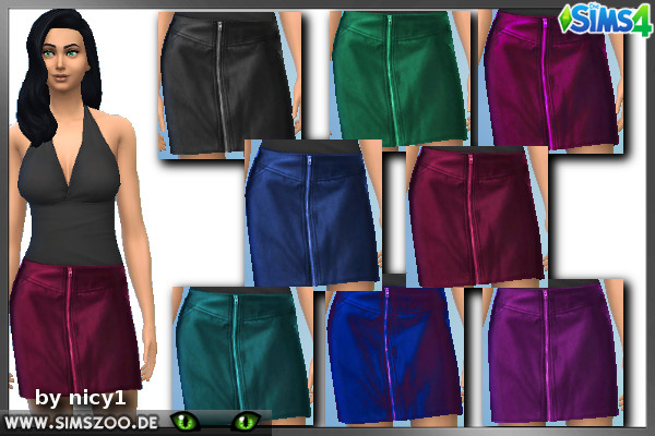 Blackys Sims 4 Zoo: Leder R1 skirt by nicy1