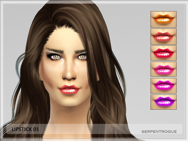 The Sims Resource: Lipstick 01 by Serpentrogue
