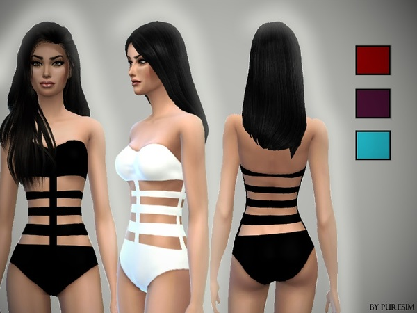 The Sims Resource: Bandage Swimsuit by PureSim