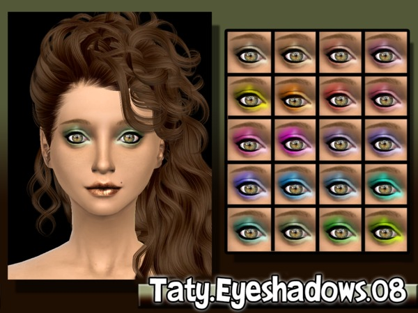 The Sims Resource: Eyeshadows 08 by Mustard