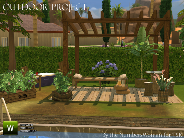 The Sims Resource: Outdoor Project by TheNumbersWoman