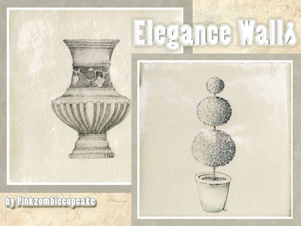 The Sims Resource: Elegance walls by Pinkzombiecupcake