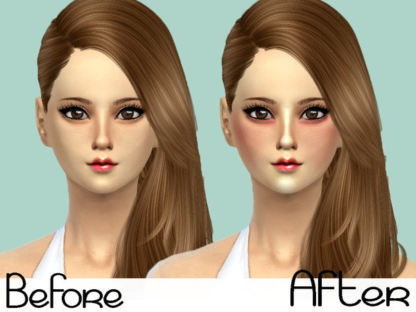 The Sims Resource: Rose Blush with Highlights by Senpai Simmer