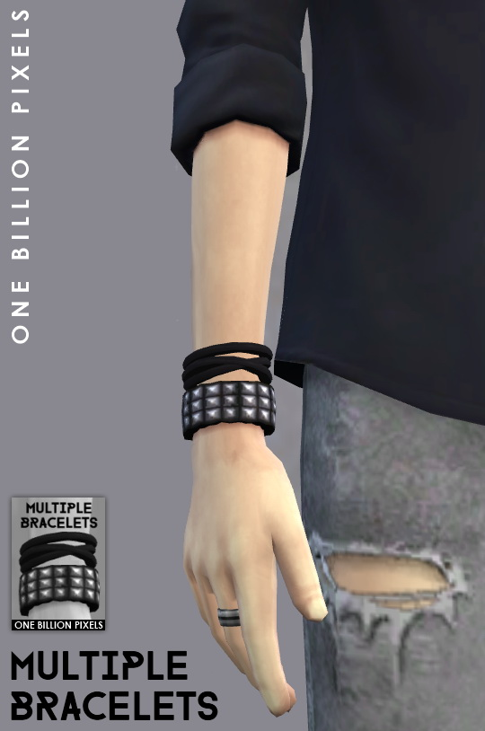 One Billion Pixels Multiple Bracelets Amp Male Sim Sims 4