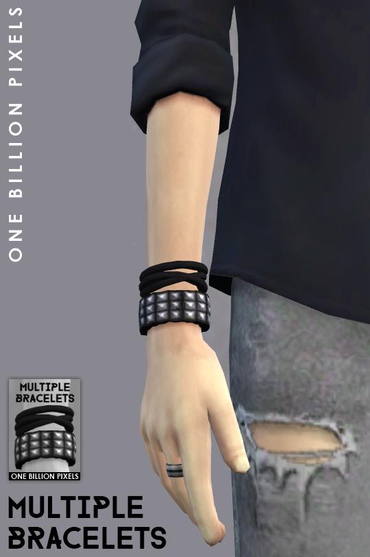 One Billion Pixels: Multiple Bracelets & Male Sim