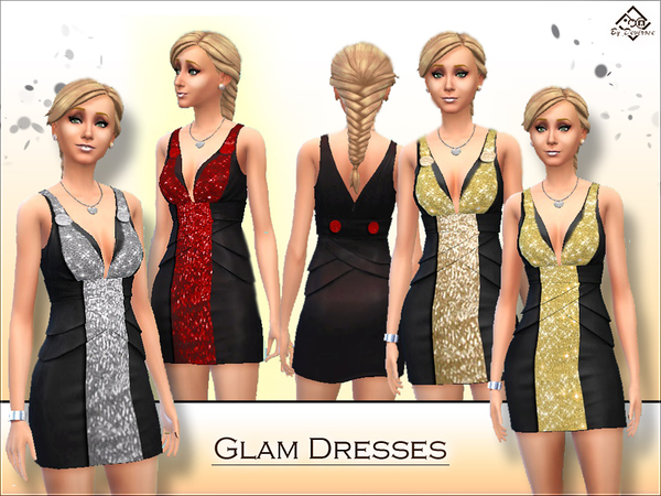 The Sims Resource: Glam Dresses by Devirose