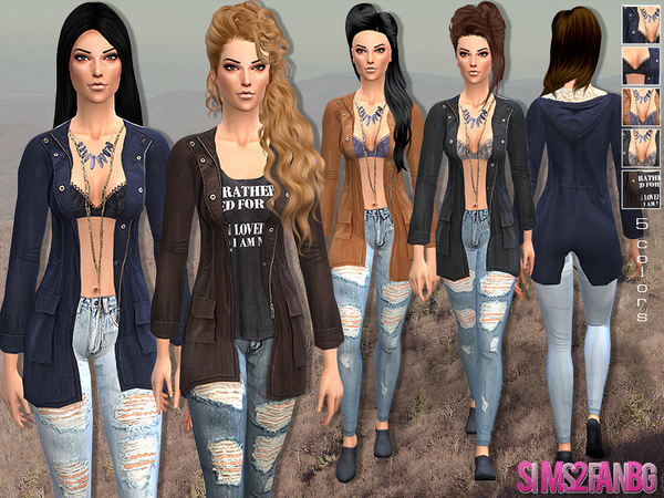 The Sims Resource: Casual outfit with jacket by Sims2fanbg