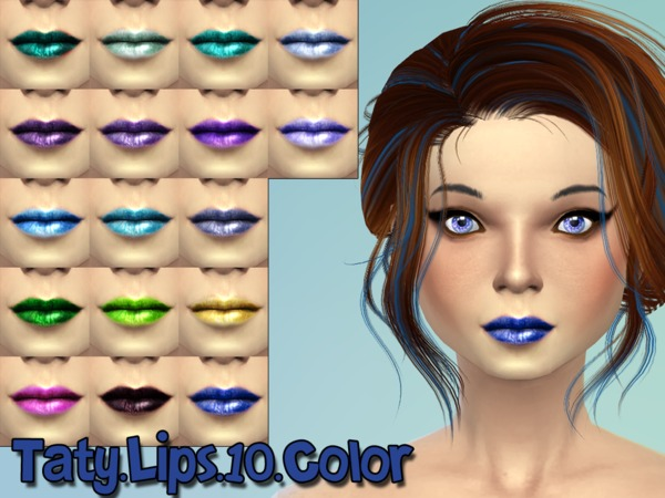The Sims Resource: Lipstick 10 by Taty
