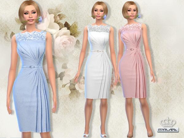 The Sims Resource: Draped wrap Dress by EsyraM