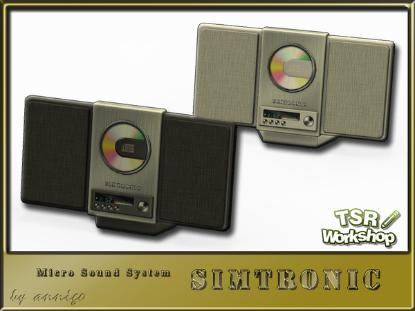 The Sims Resource: Micro Sound System SIMTRONIC by Annigo