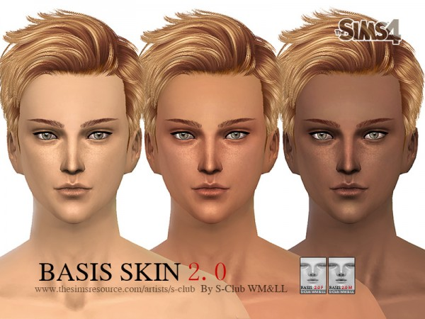 The Sims Resource: BASSIS skintones 2.0 by S Club