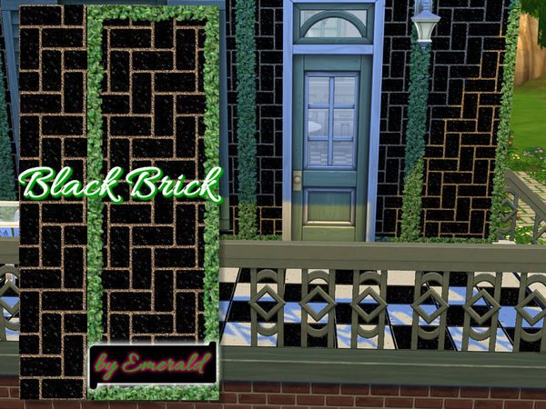 The Sims Resource: Black brick  by Emerald