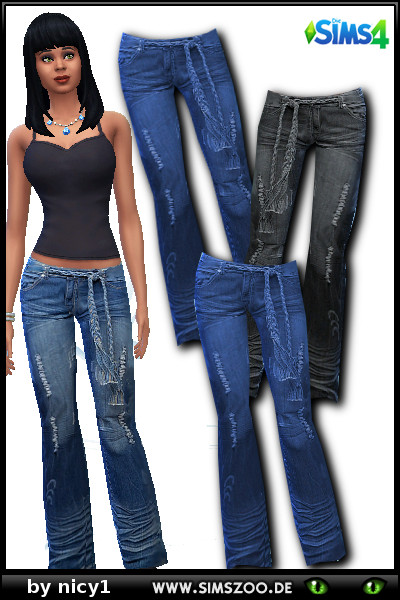 Blackys Sims 4 Zoo: Jeans910 nby Nicy 1