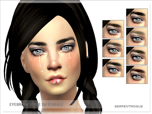 The Sims Resource: Eyebrow style 06 by Serpentogue