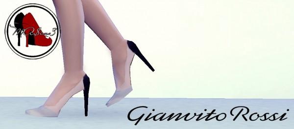 MA$ims 3: Gianvito Rossi Metallic Toe PVC Stiletto Shoes