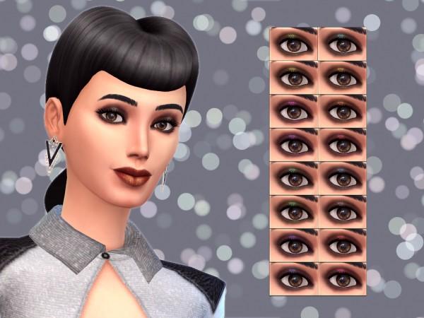 Mod The Sims: Dark Smokey Glitter Eyeshadow by Notegain
