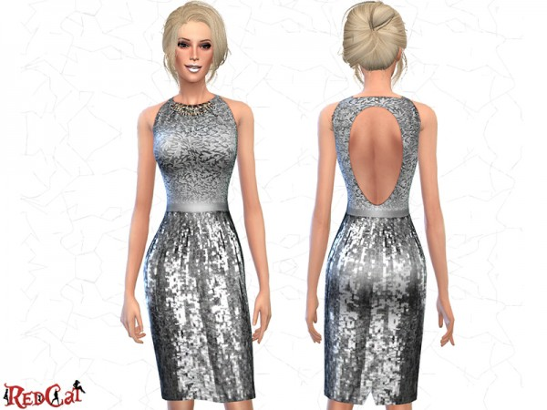 The Sims Resource: Pencil Dress with Necklace by RedCat
