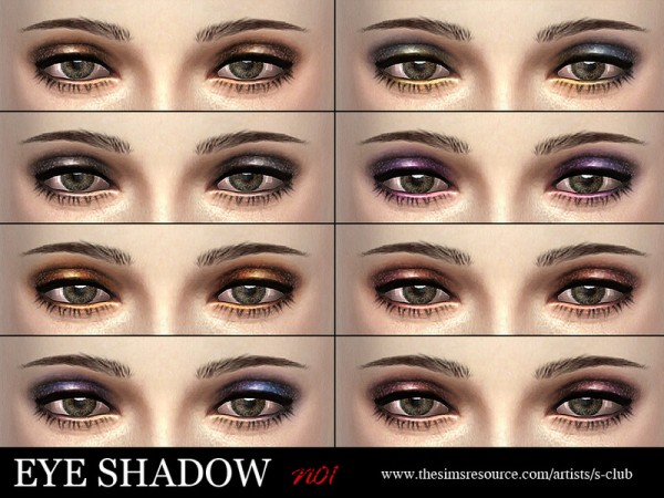 The Sims Resource: Eyeshadow 01 by S Club