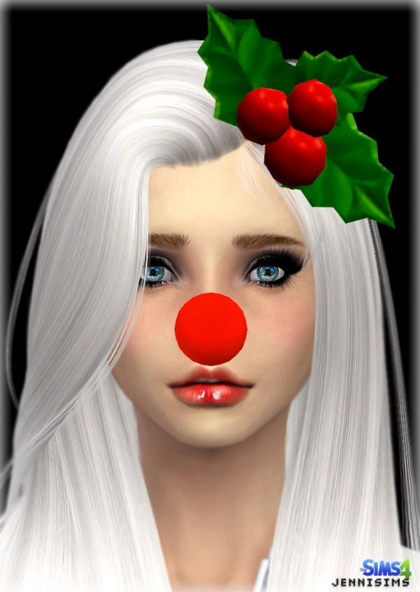 Jenni Sims: Santa Nose and Mistletoe Hairstyle