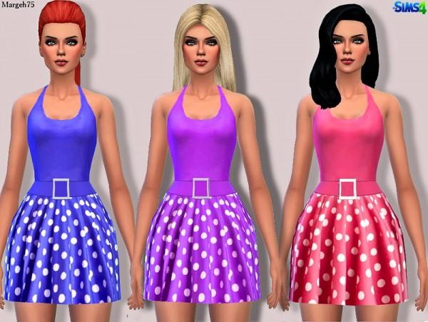 Sims 3 Addictions: Polka Halter Dress