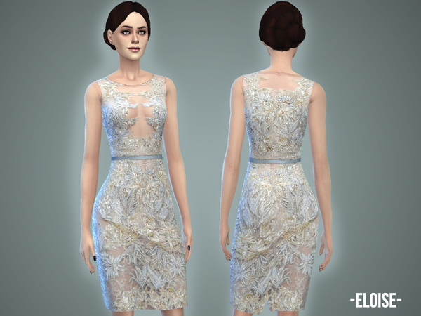 The Sims Resource: Eloise   dress by April