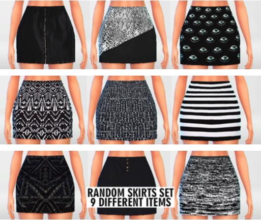 Pure Sims: High Waisted Skirts Set