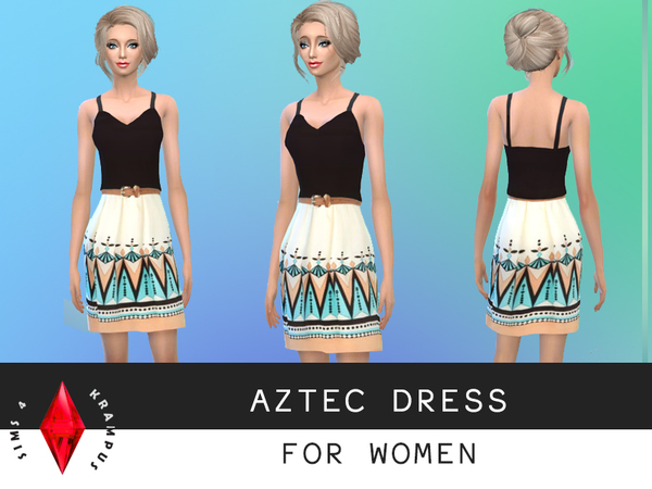 The Sims Resource: Aztec Dress by SIms4Krampus