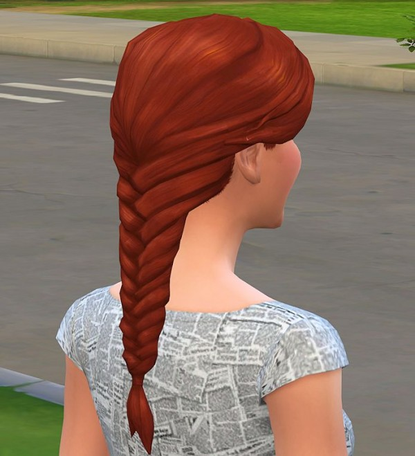 Mod The Sims: Braid Fishtail redone  by malicieuse75