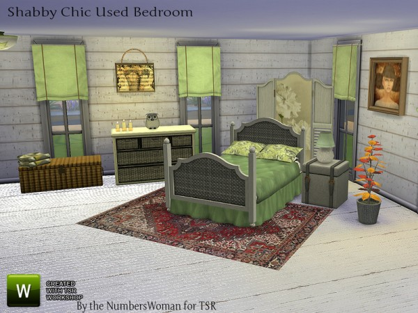 The Sims Resource: Bargain Shabby Chic Bedroom by TheNumbersWoman
