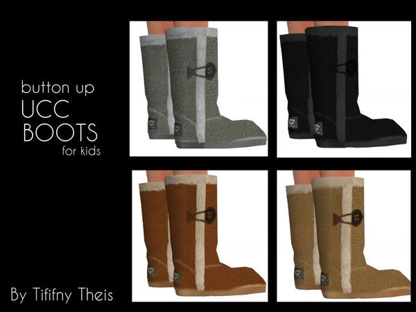 The Sims Resource: Kids UCC Boots by  tiffybee
