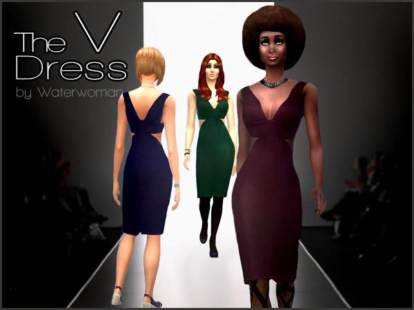Akisima Sims Blog: The V Dress