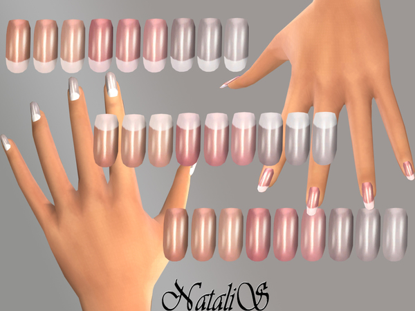 The Sims Resource: French long nails by NatallS • Sims 4 Downloads