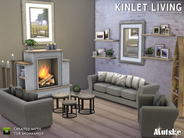 The sims resource kinlet livingroom by mutske sims 4 for 3 star living room chair sims