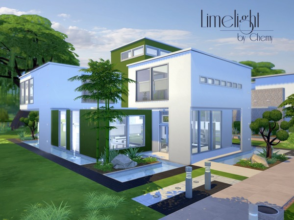 The sims resource limelight modern residential lot by chemy sims 4 downloads - The sims 3 case moderne ...