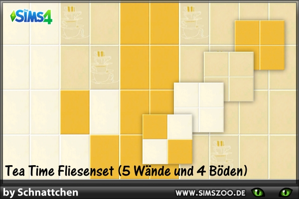 Blackys Sims 4 Zoo: Tile walls by Schnattchen