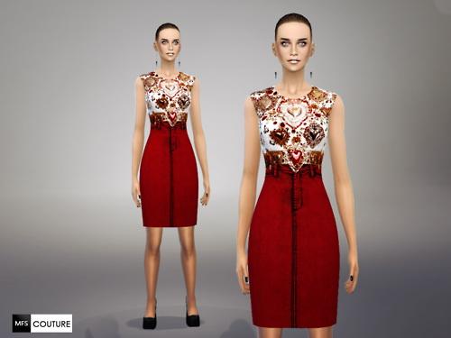 MissFortune Sims: Embellished Dress