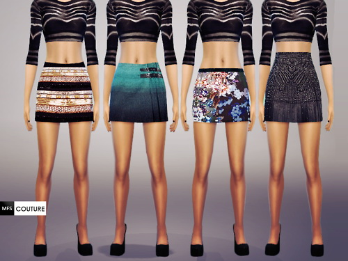 MissFortune Sims: Skirts Pack